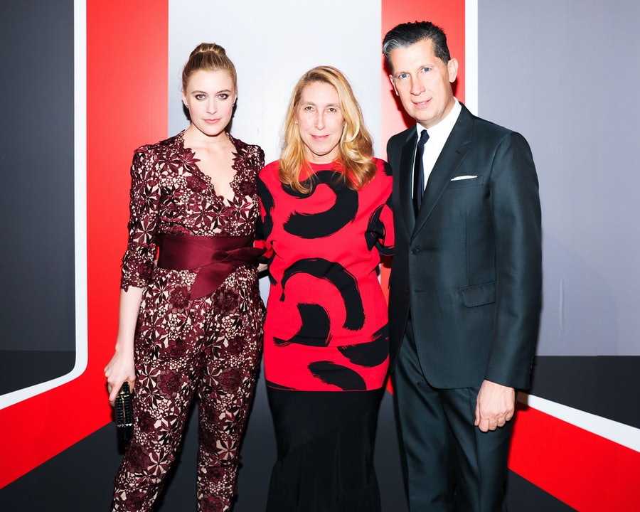 Greta Gerwig, Lisa Phillips, and Stefano Tonchi.