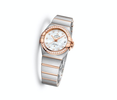 Omega mother of pearl watch