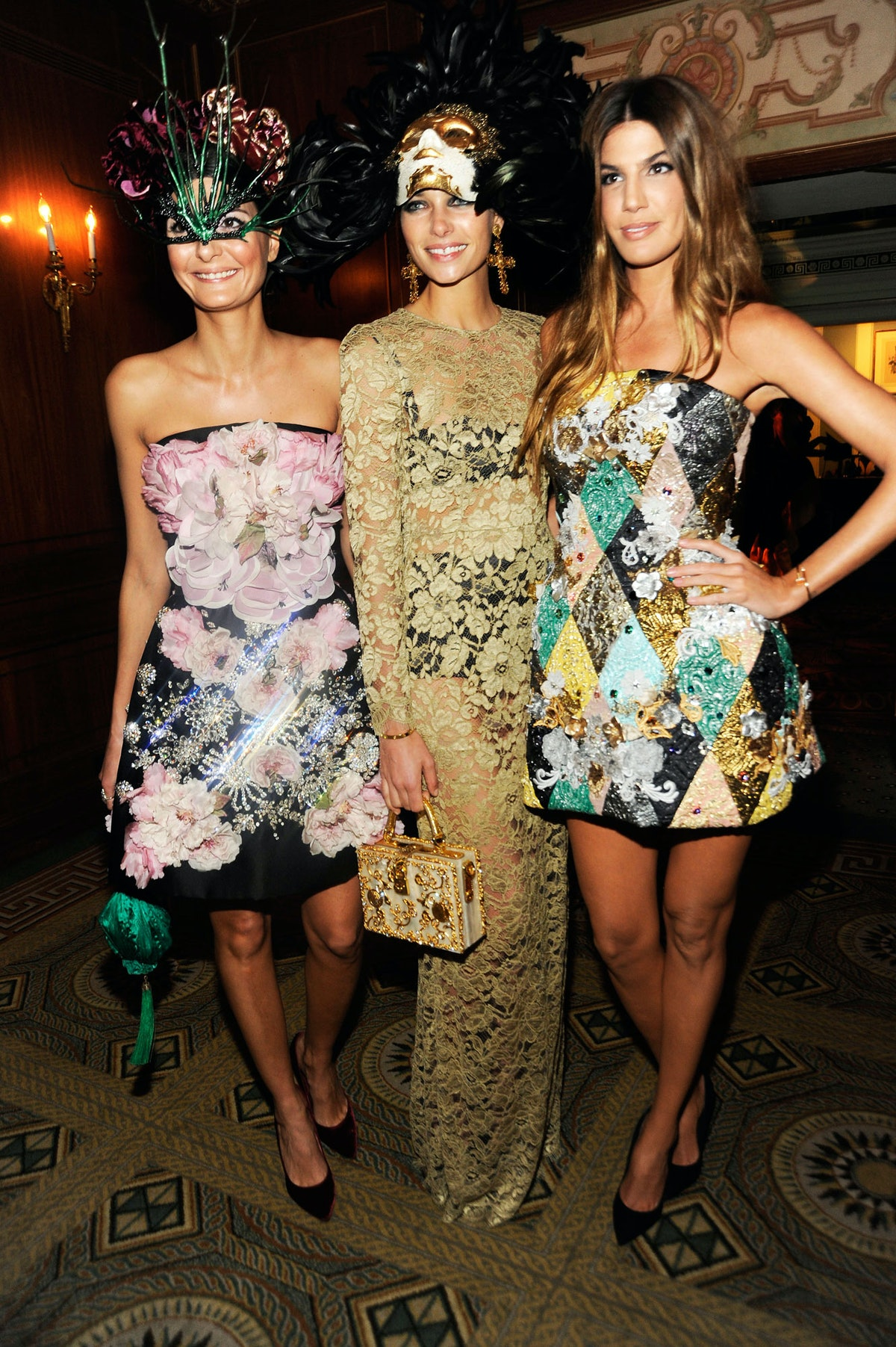 Giovanna Battaglia, Jessica Hart, and Bianca Brandolini
