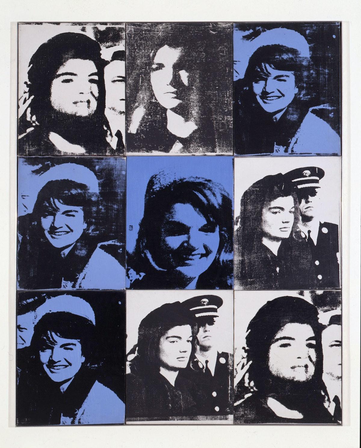 Nine Jackies by Andy Warhol