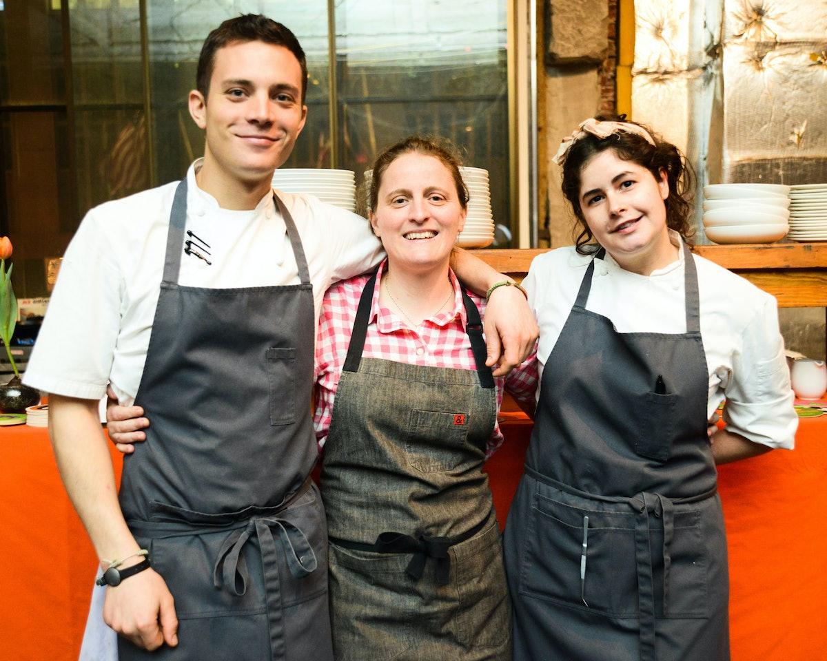 Preston Miller, April Bloomfield, and Christina Lecki