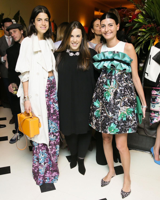 Leandra Medine, Mary Katrantzou, and Giovanna Battaglia