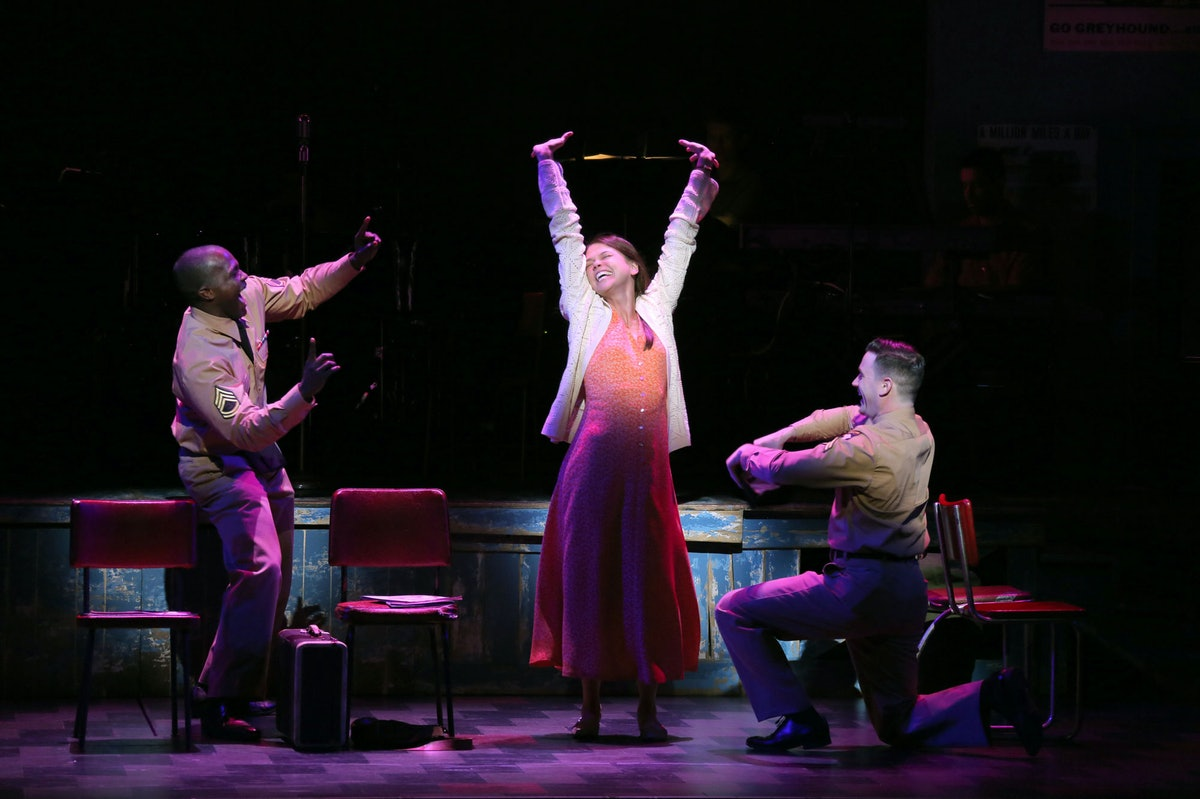 Joshua Henry, Sutton Foster, and Colin Donnell
