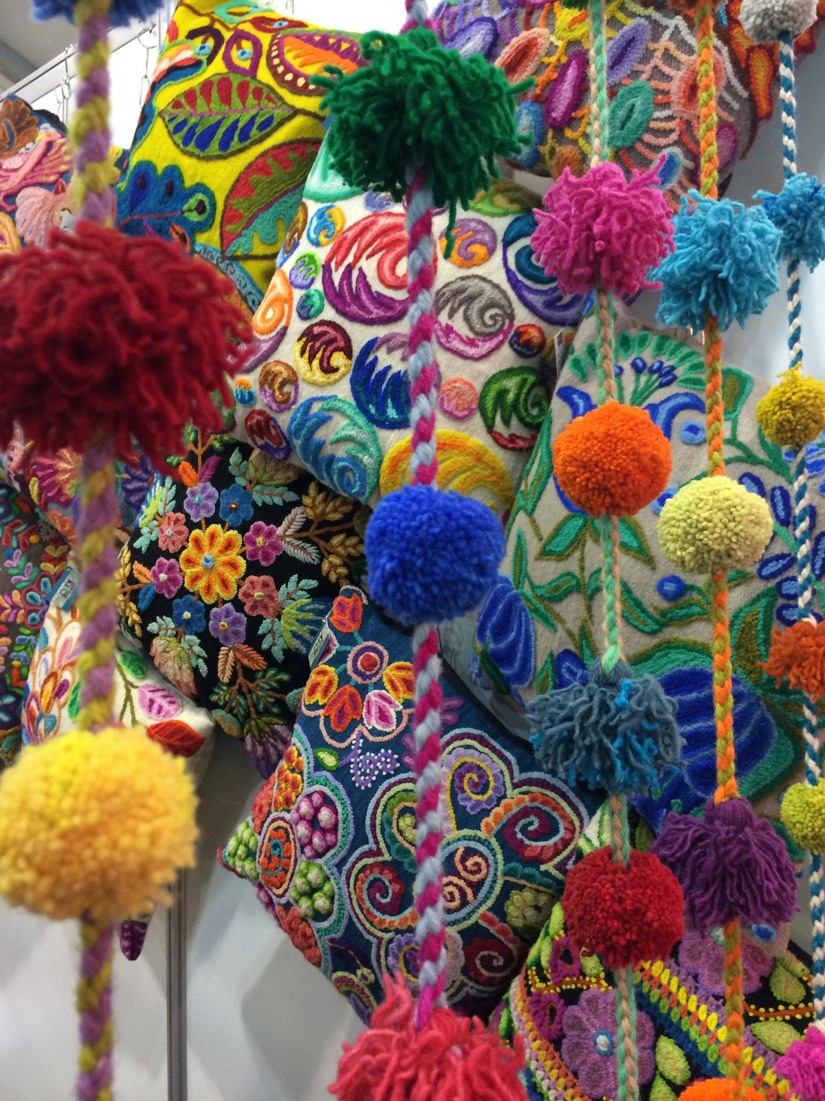 Peruvian Embellished Pillows