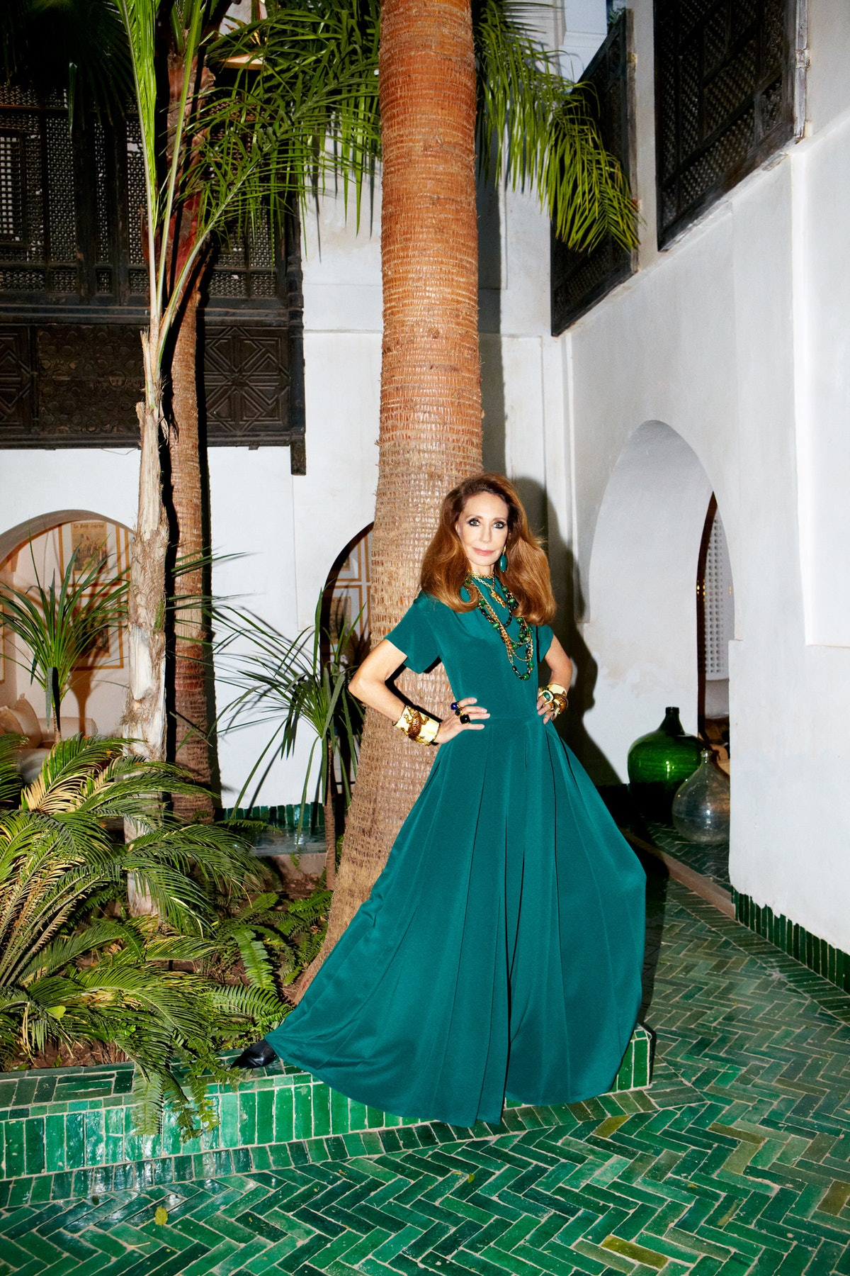 Marisa Berenson Valentino jumpsuit