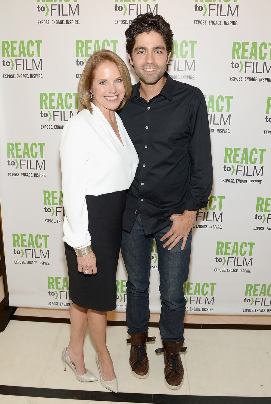 Katie Couric and Adrien Grenier