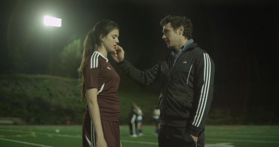 Margaret Qualley with James Franco