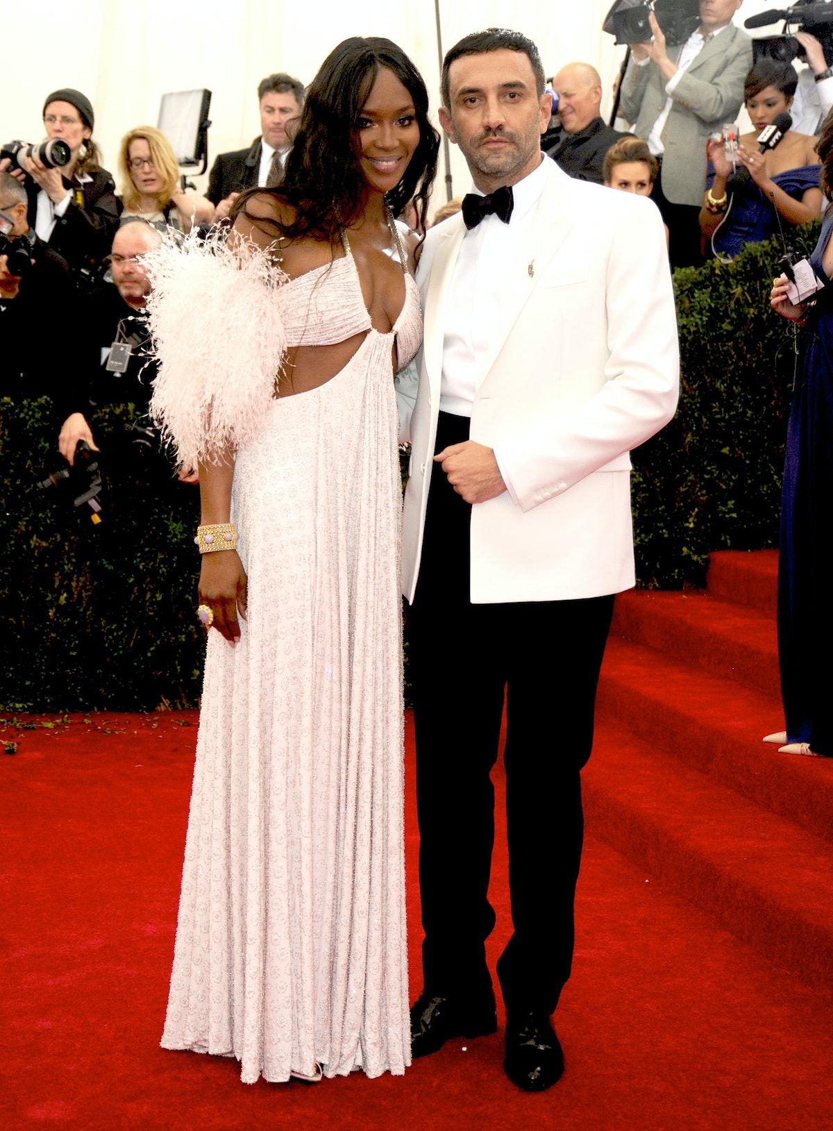 Naomi Campbell and Riccardo Tisci