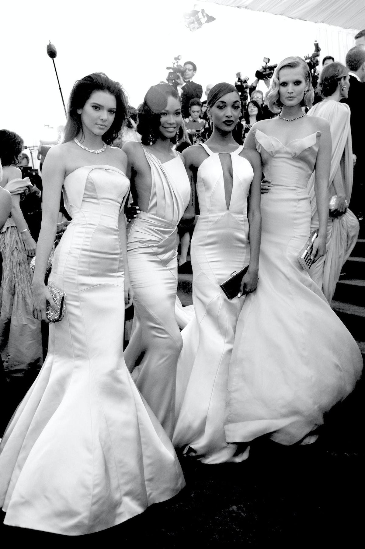 Kendall Jenner, Chanel Iman, Jourdan Dunn, and Toni Garrn