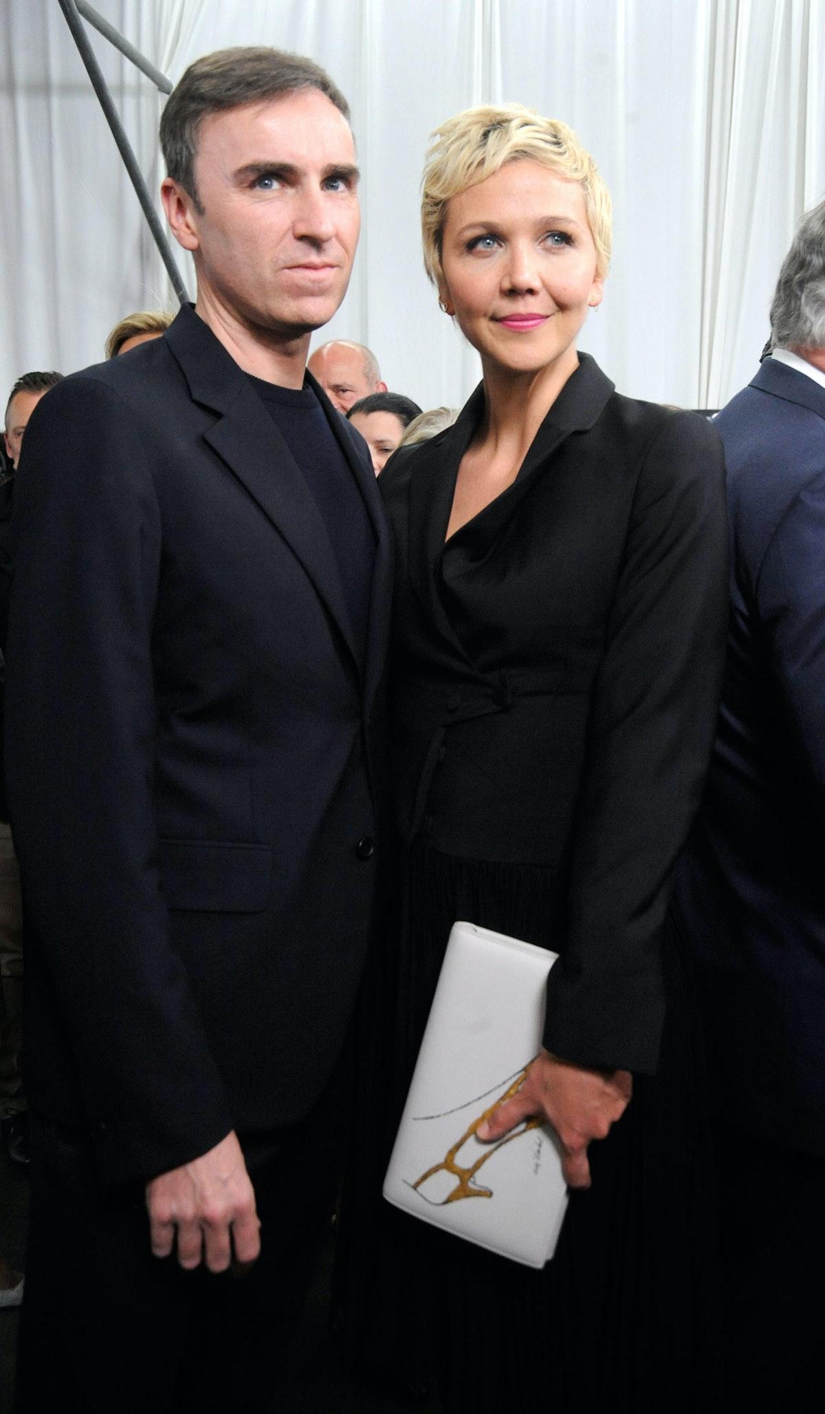 Raf Simons and Maggie Gyllenhaal