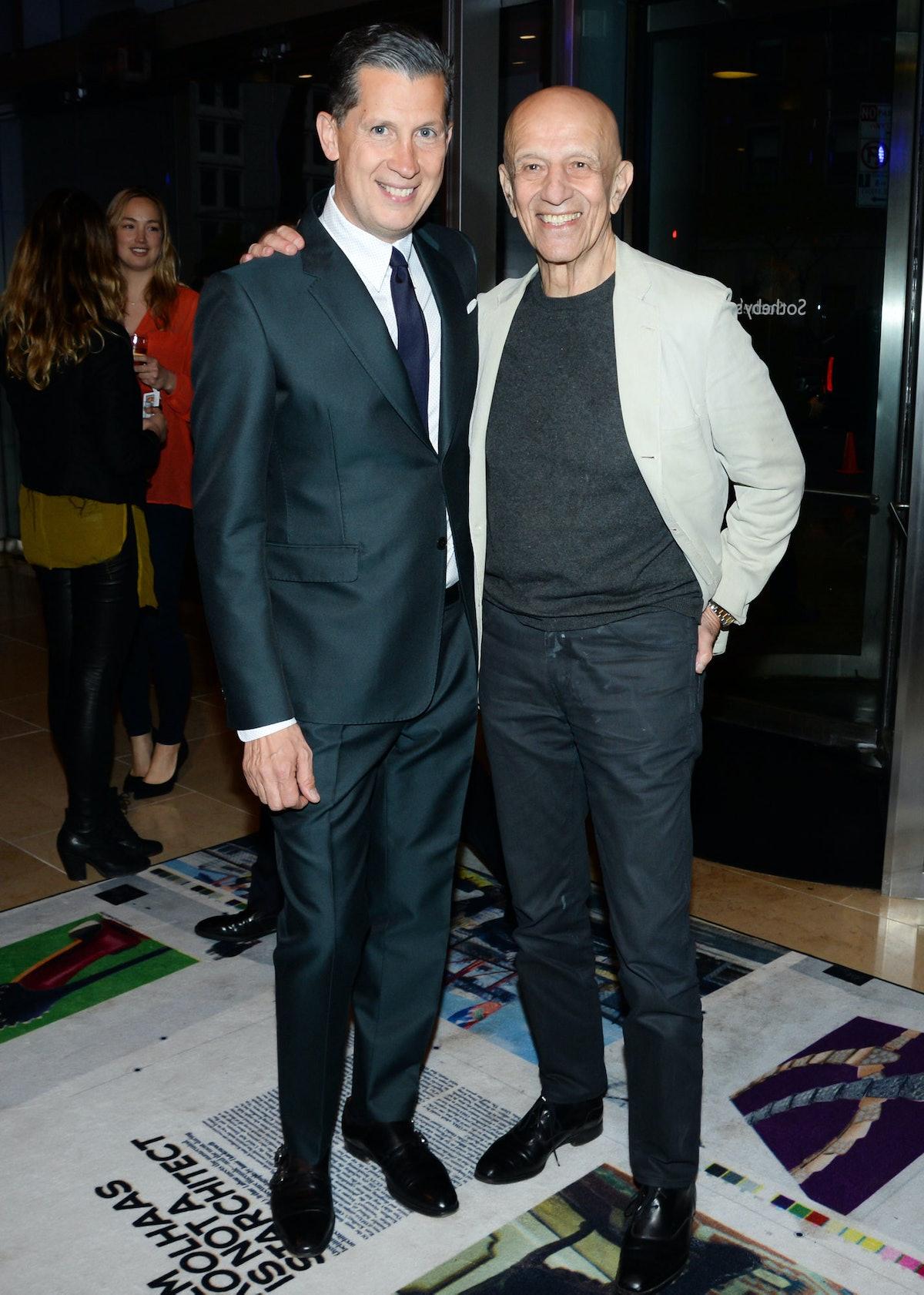 Stefano Tonchi and Alex Katz