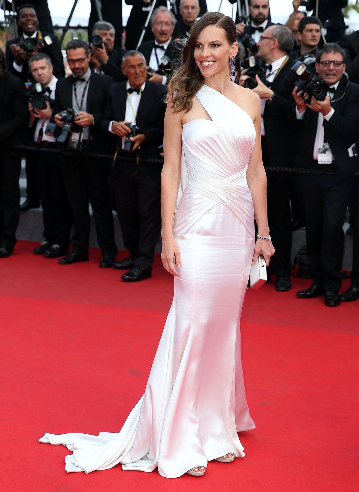 Hilary Swank in Versace