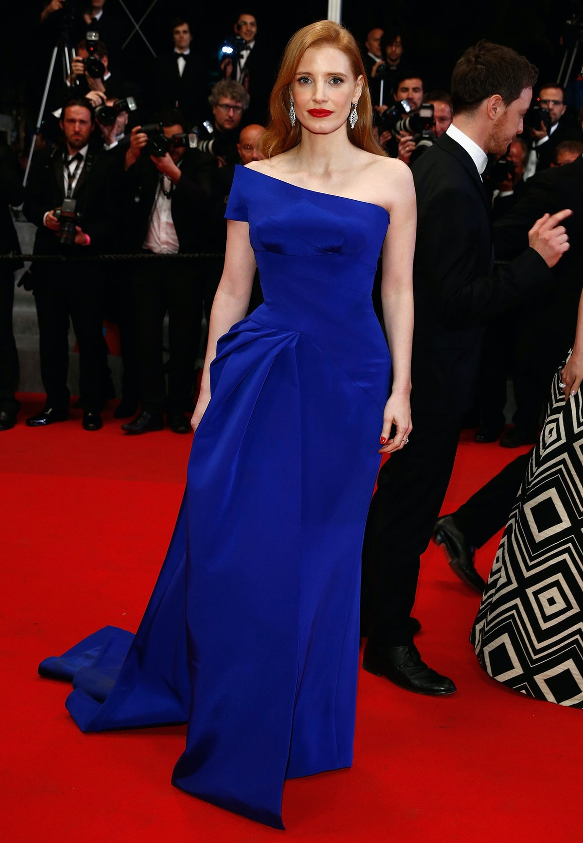 Jessica Chastain in Versace