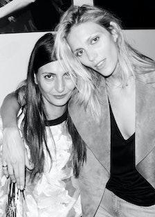 Giovanna Battaglia and Anja Rubik