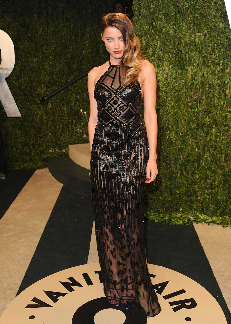 Amber Heard in Versace Couture