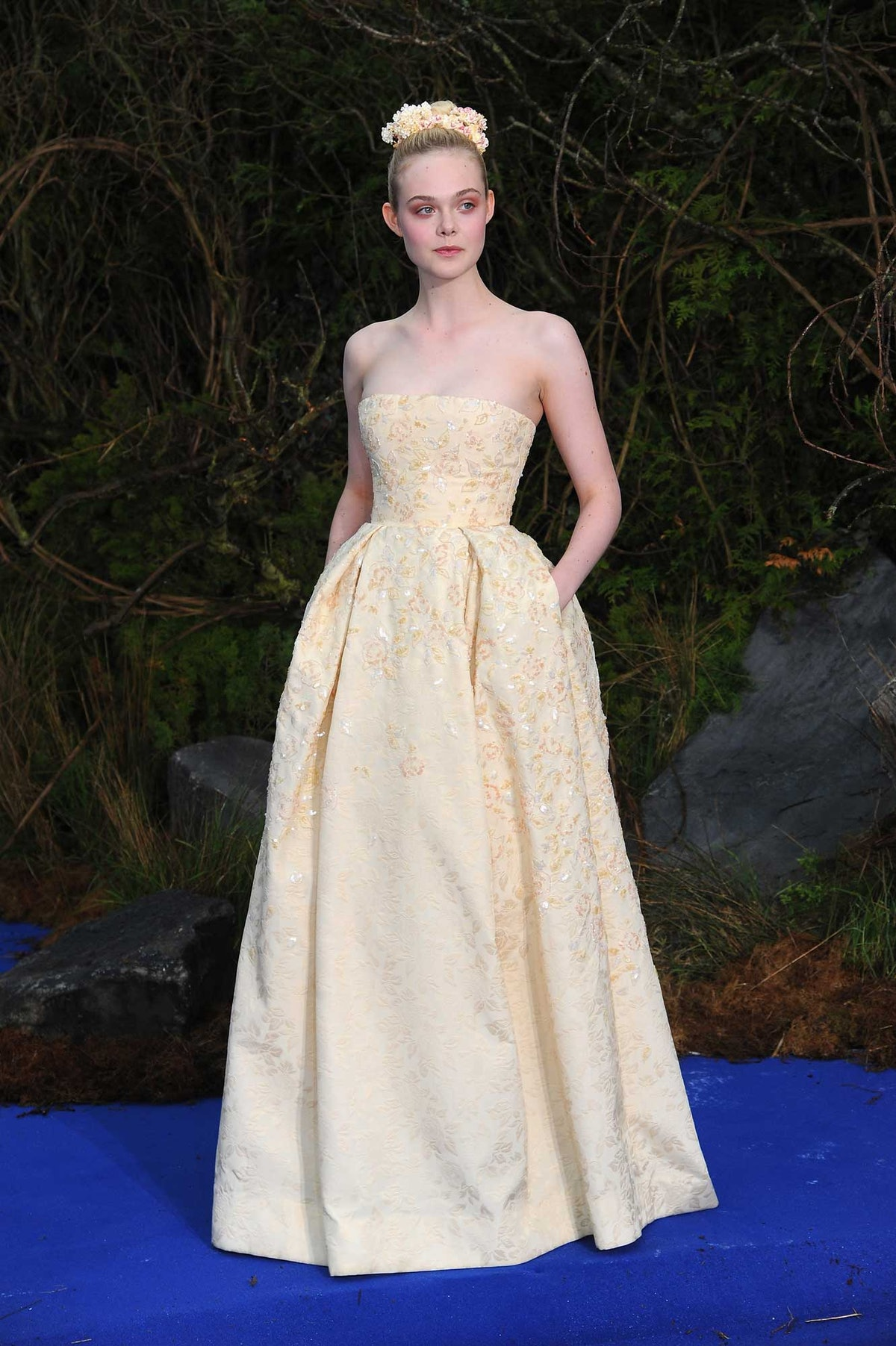 Maleficent star Elle Fanning in George Hobeika Couture