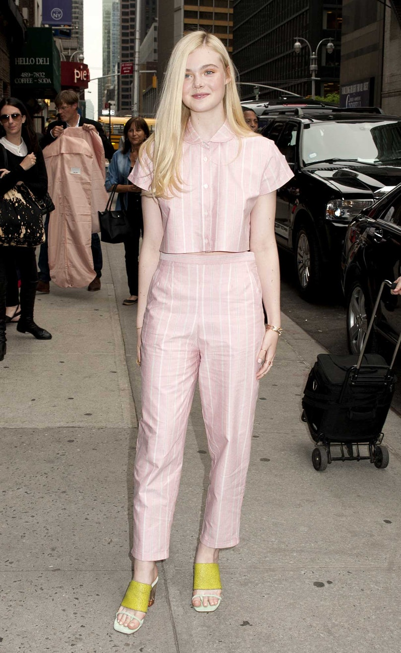 Elle Fanning at The Late Show