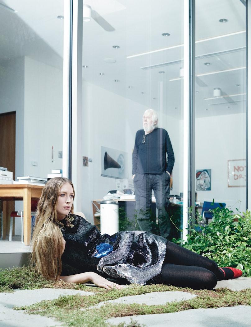 Saint Laurent by Hedi Slimane Baldessari Artwork Edition dress