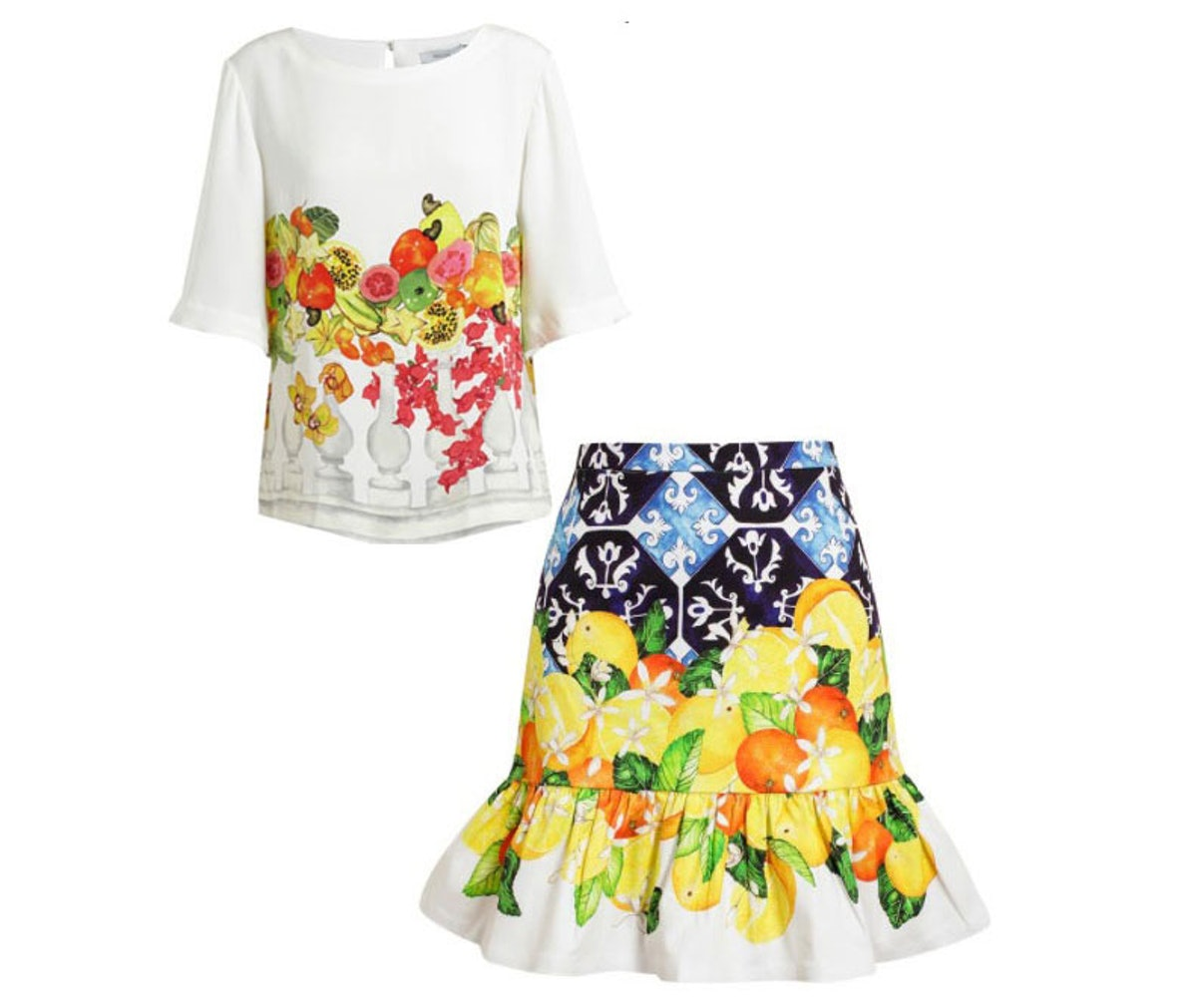 Isolda Floral Top and Skirt