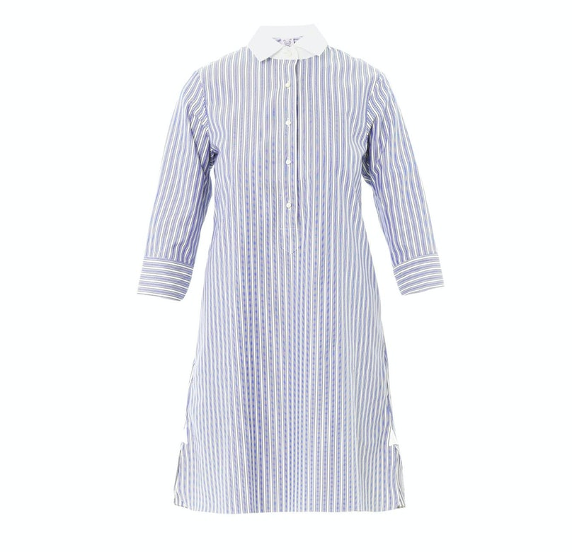 Thierry Colson Cecile stripe cotton shirt dress