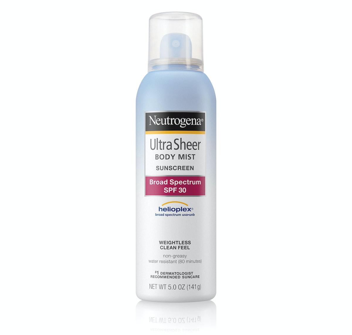 Neutrogena Ultra Sheer Body Mist Sunscreen