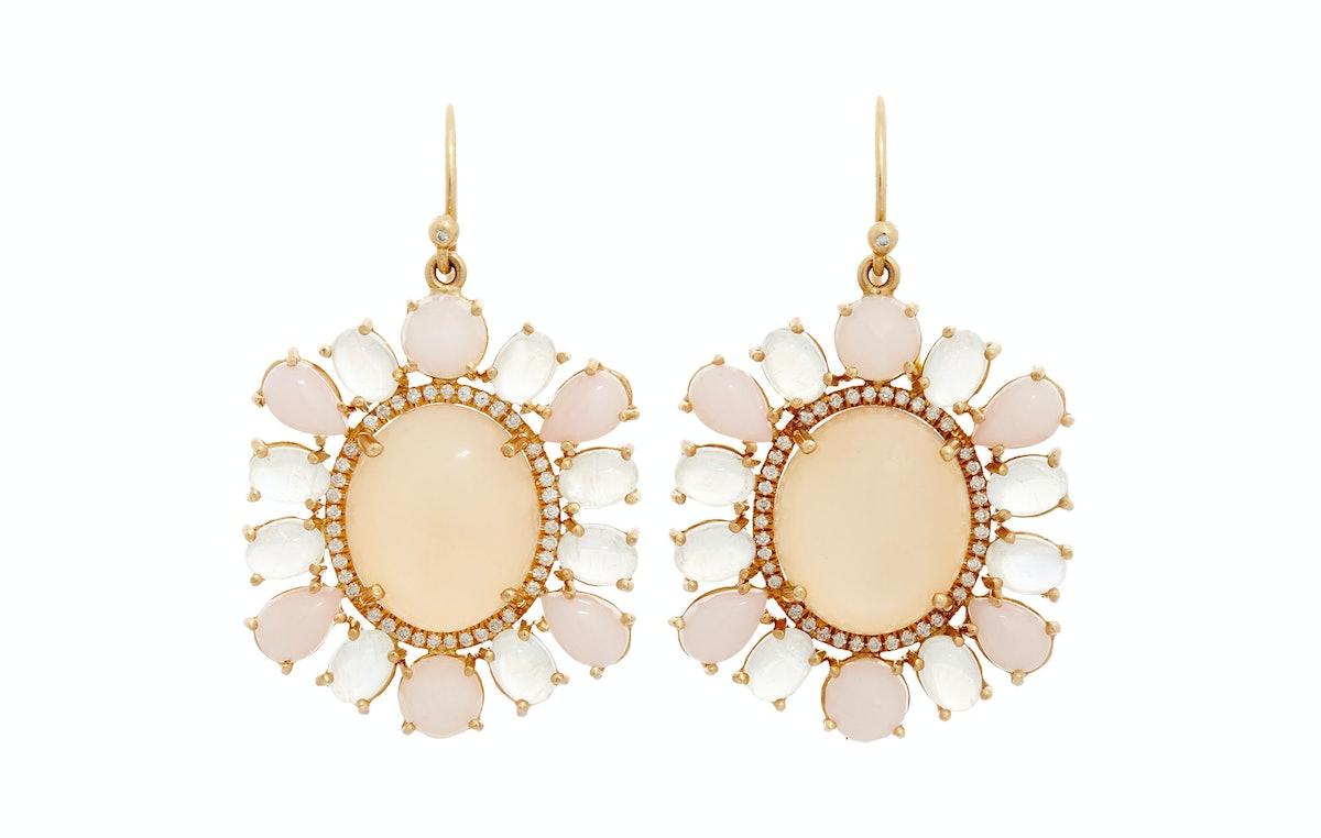 Irene Neuwirth Peach Moonstone earrings