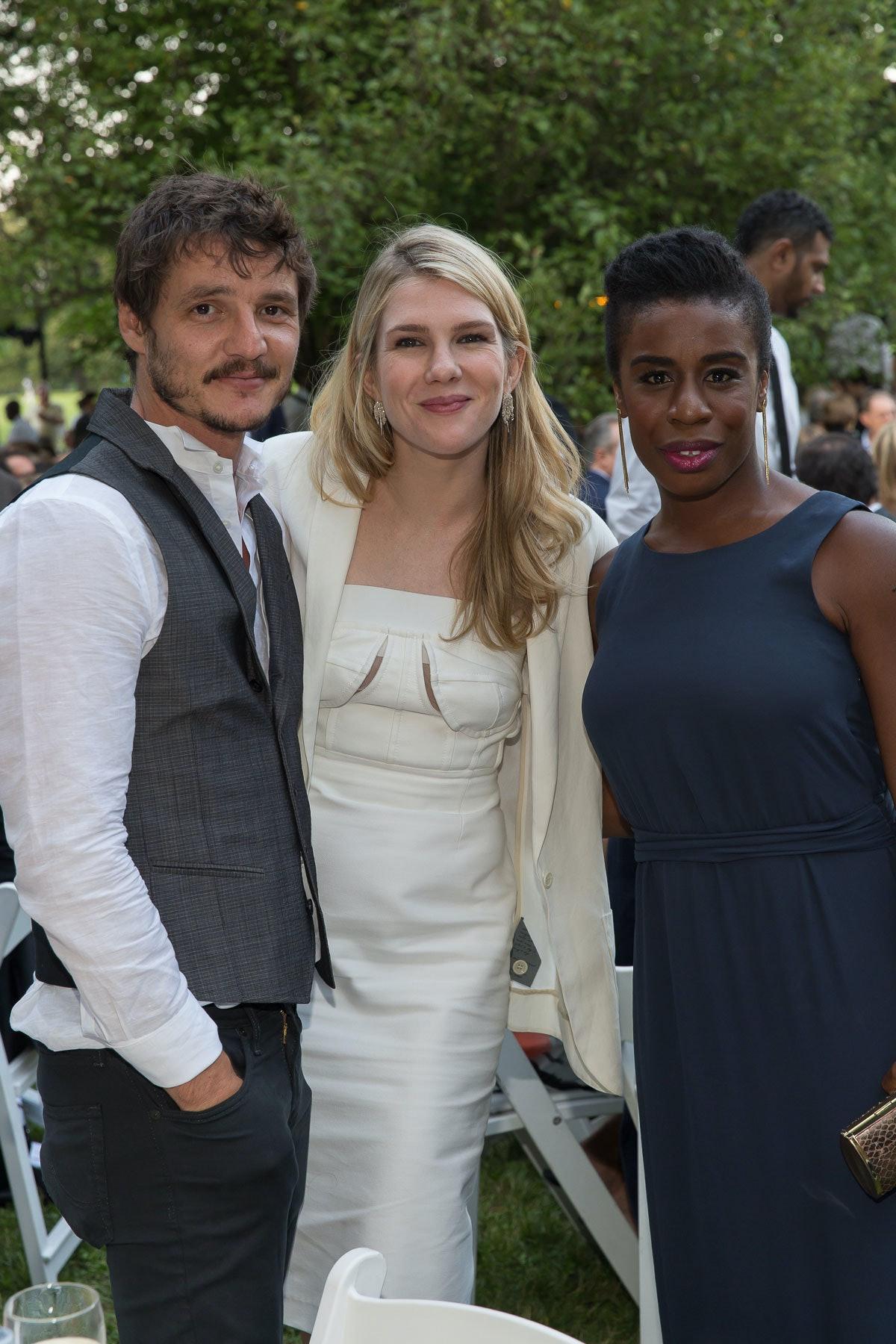 Pedro Pascal, Lily Rabe, and Uzo Aduba