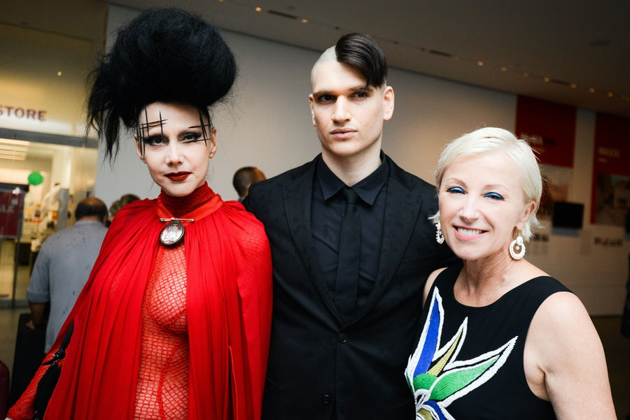 Susanne Bartsch, Jordon Lee, and Cindy Sherman