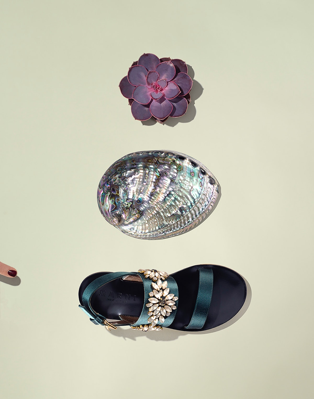 Marni embellished satin sandal
