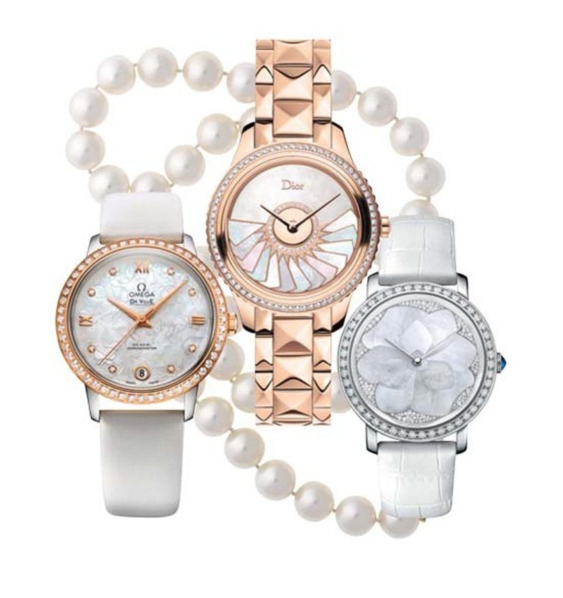 Omega Dior Pearl Watches
