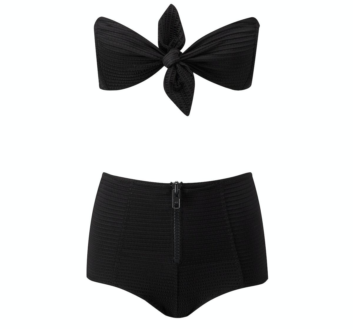Lisa Marie Fernandez Poppy zip high waist bikini