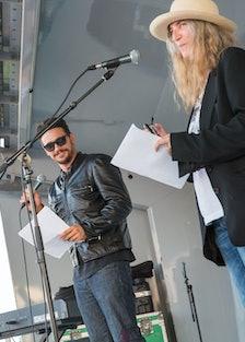 James Franco and Patti Smith