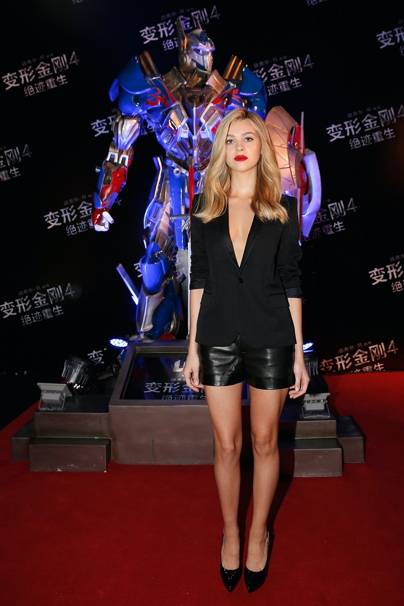 Nicola Peltz in Saint Laurent