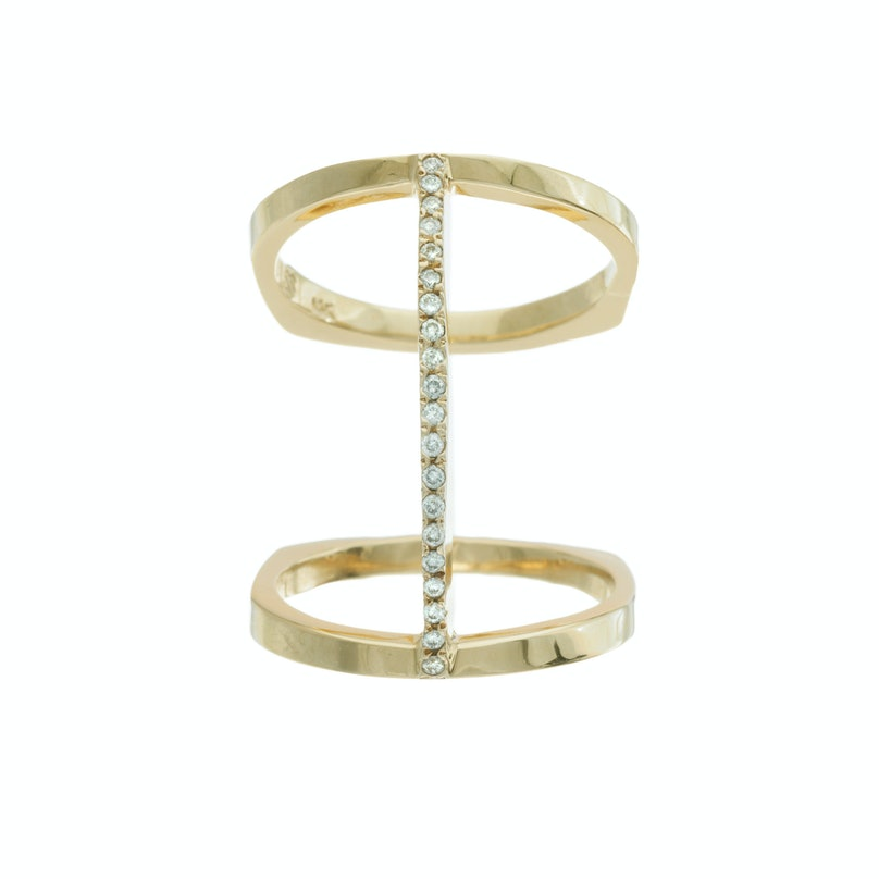 Bliss Lau gold vermeil and diamond ring