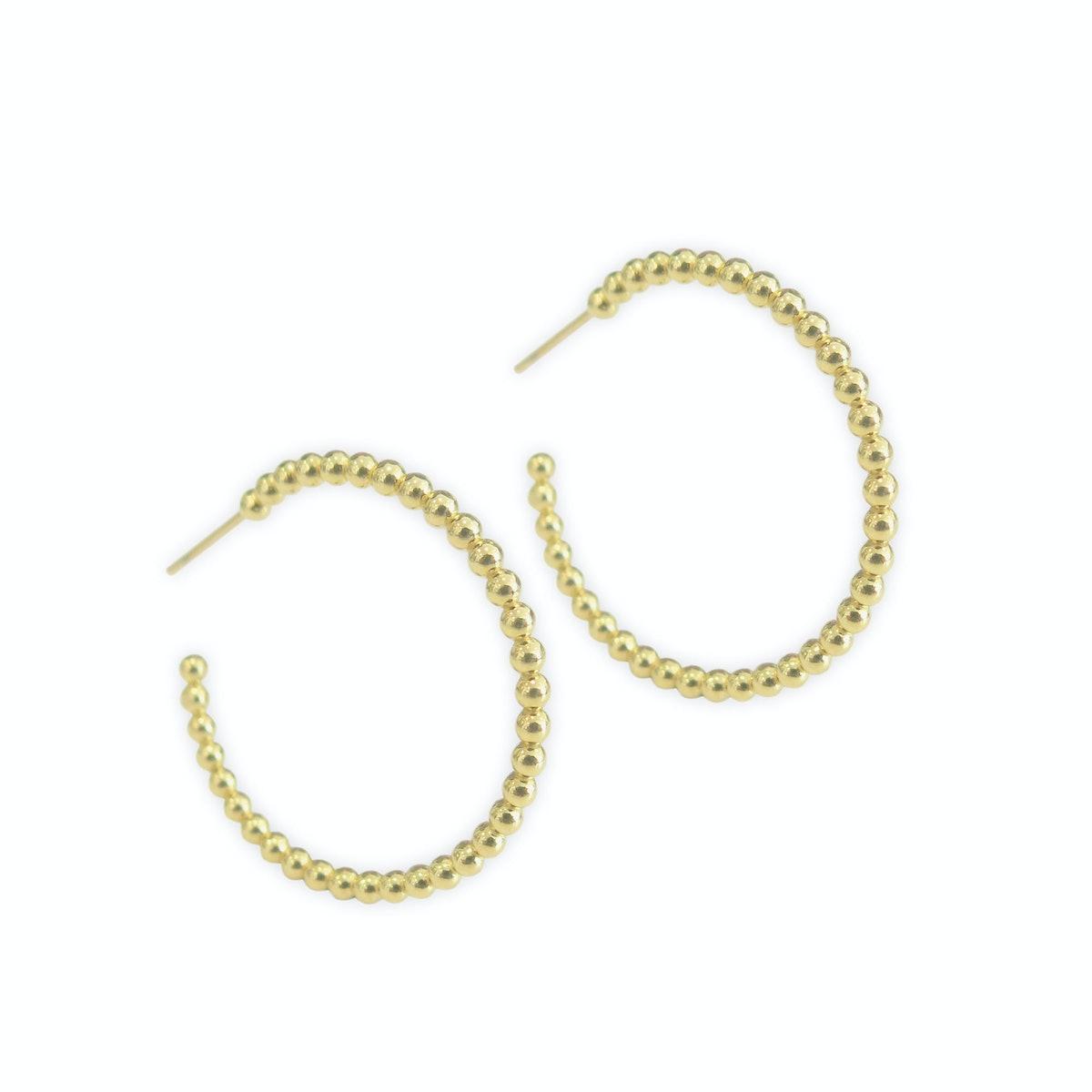 Jennifer Meyer gold hoop earrings