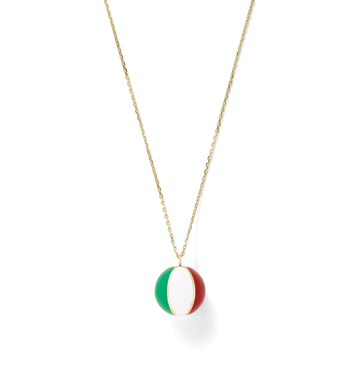 Alison Lou gold and enamel necklac