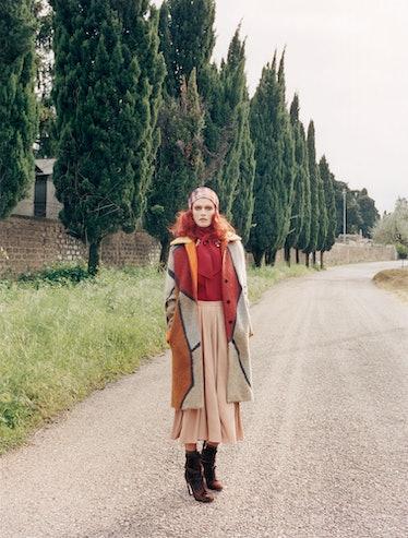 Missoni coat and headband Venetia Scott