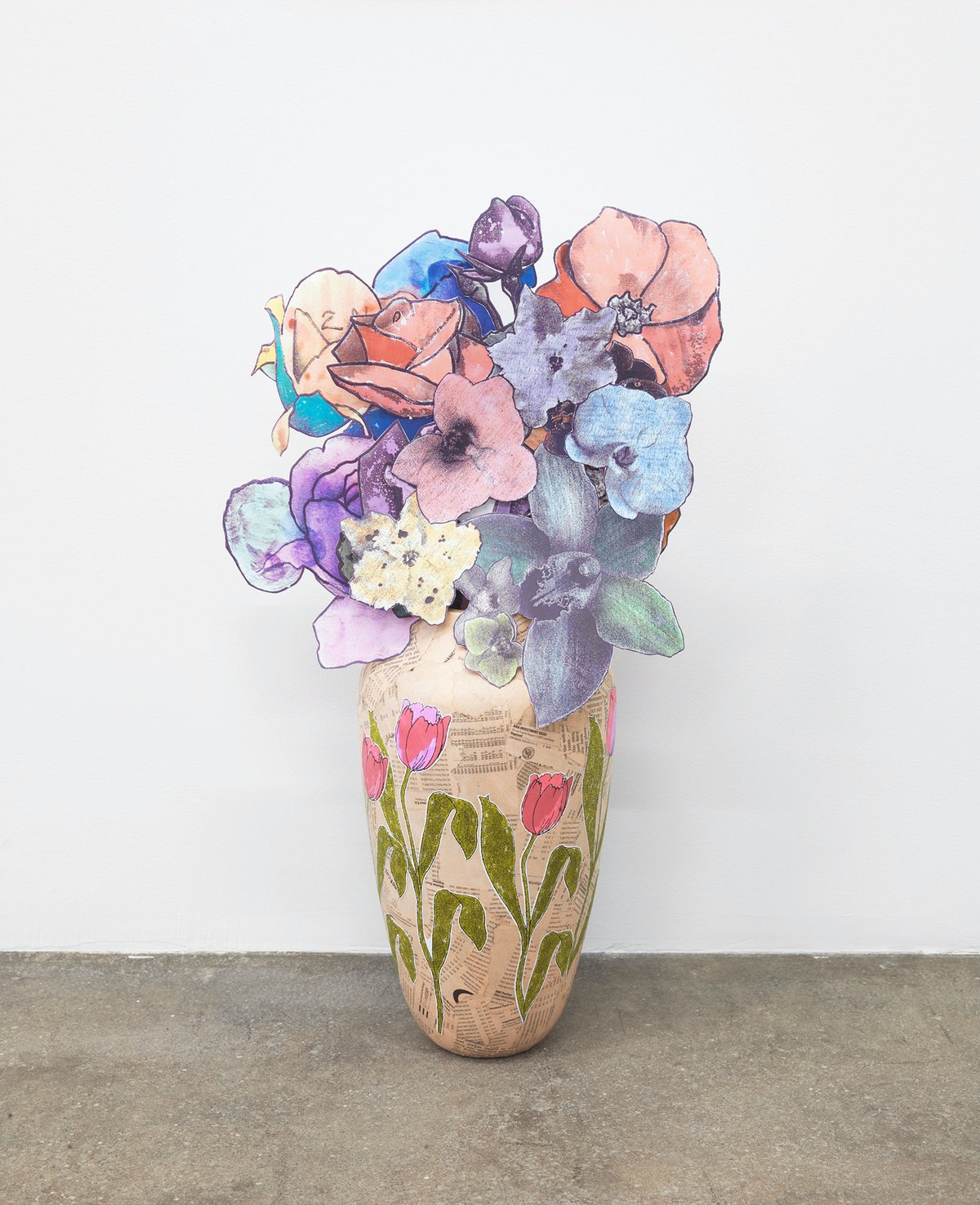 Vase (prototype) and paper bouquet, 1997-2014 by Marc Camille Chaimowicz