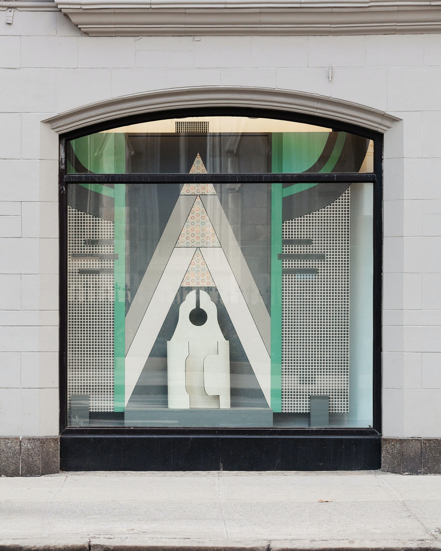 Window 2, Window dressing:Bib-dots, 2006/7 by Diane Simpson