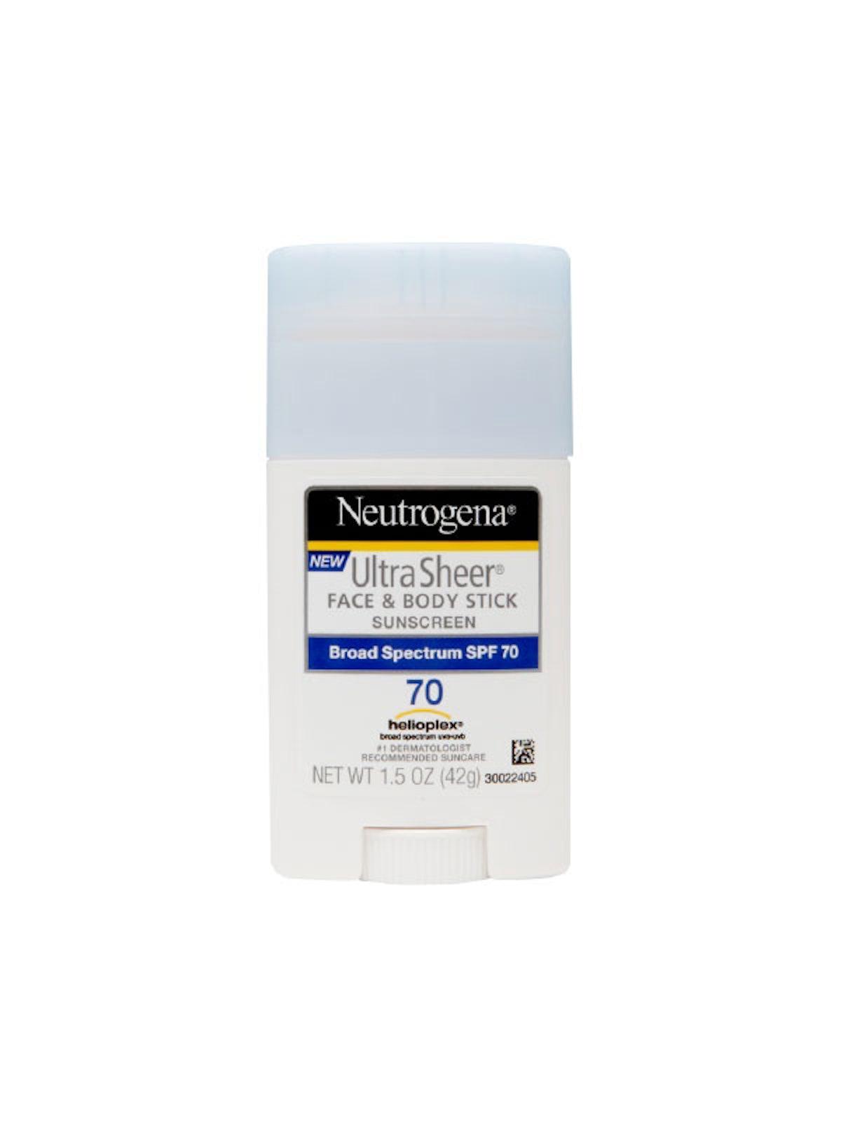 Neutrogena Ultra Sheer Face & Body Stick SPF 70