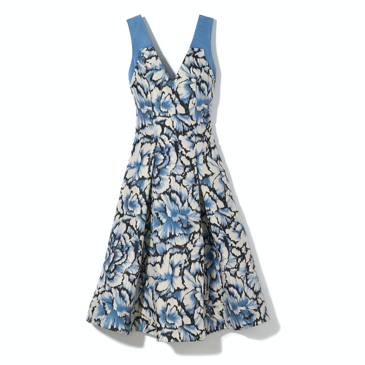 Carolina Herrera Feathered Floral jacquard dress