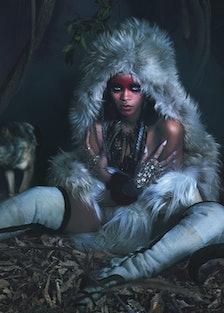 Rihanna Wolves Fur