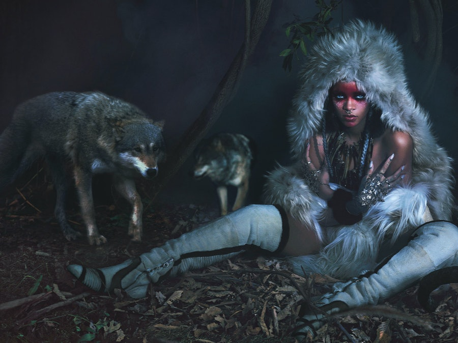 Rihanna Wolves Fur