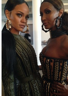 Behind the Scenes with Rihanna and Iman