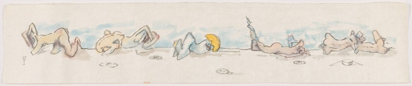 Untitled (frieze), c. 1974 by Dorothea Tanning