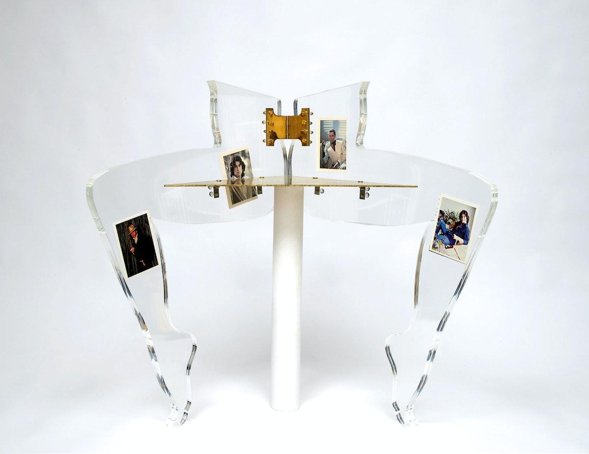 Leg Chair (John Travolta), 2010 by Anthea Hamilton