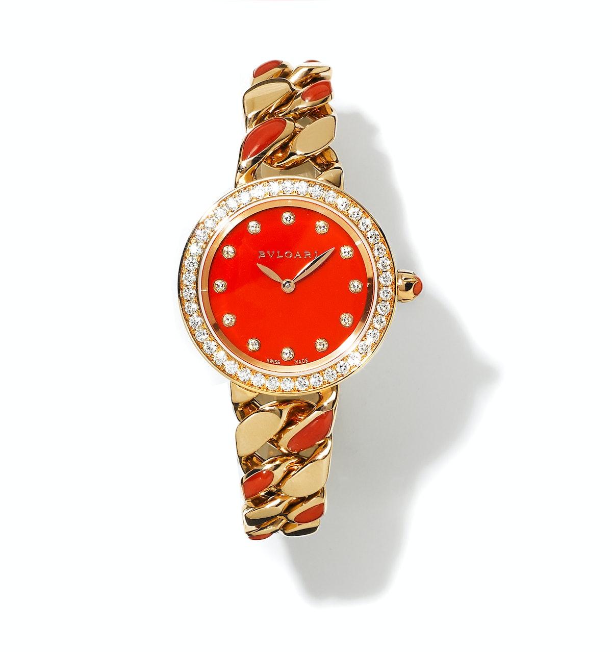 Bulgari gold and diamond watch