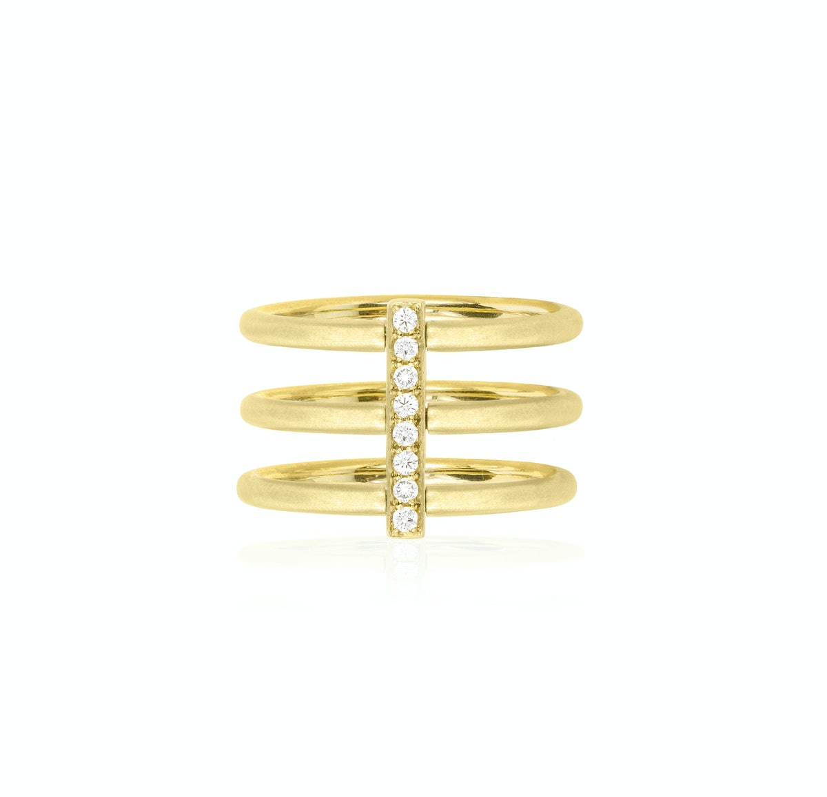 Carelle gold and diamond ring