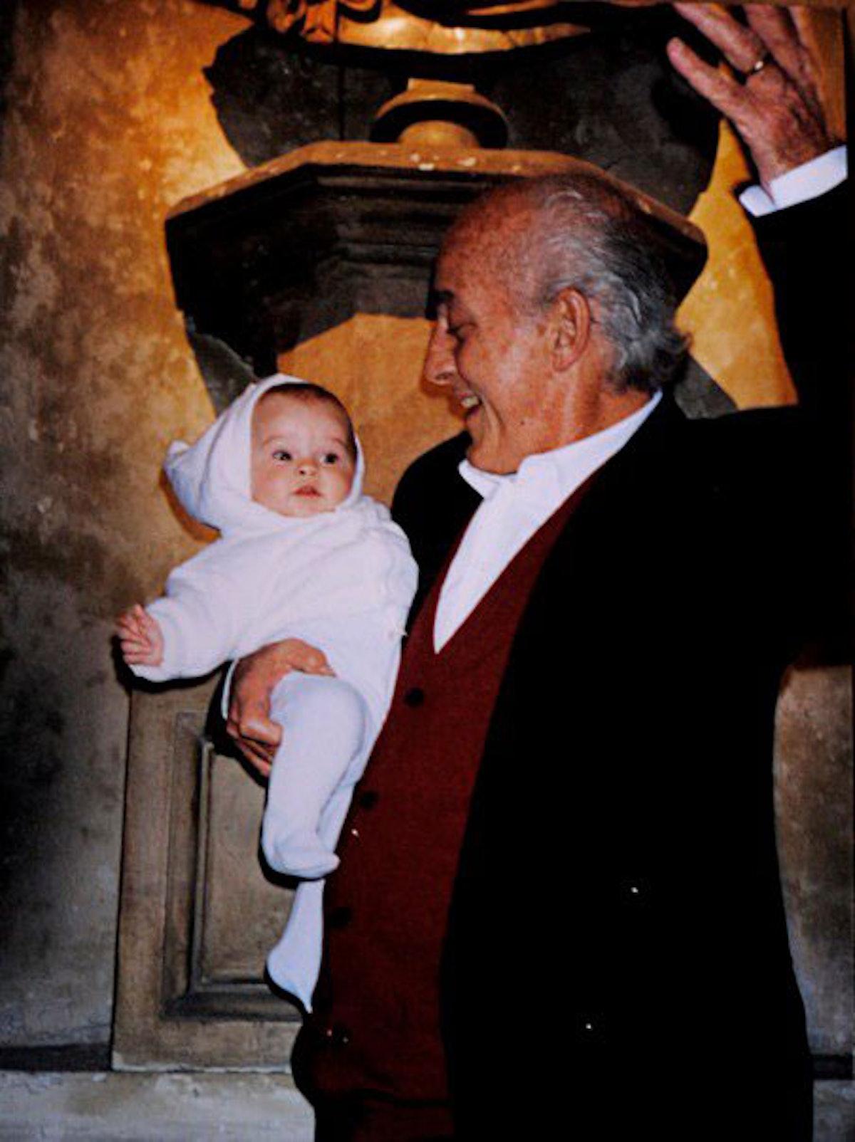 Melusine Ruspoli with her father
