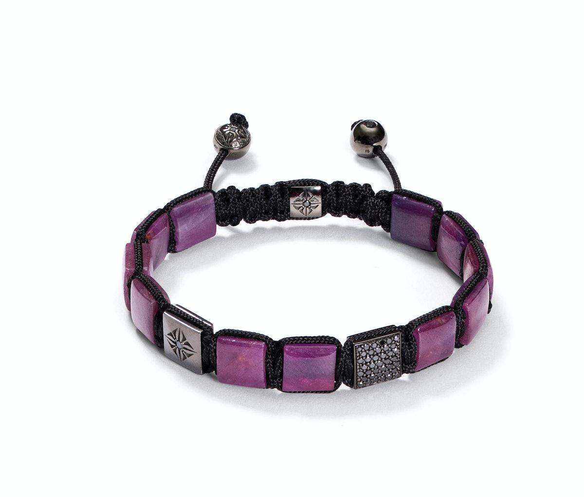 Shamballa Jewels gold, ruby, and diamond bracelet